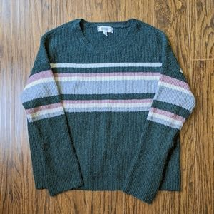 Pink Rose cozy striped sweater